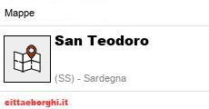 Cartina Di San Teodoro Sardegna.Mappa San Teodoro Ss Sardegna